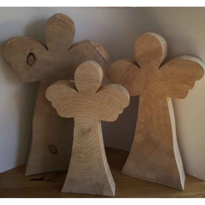 holz engel pappel natur deko engel drei gr en silhouette. Black Bedroom Furniture Sets. Home Design Ideas